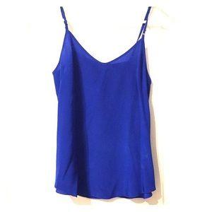 Wilfred camisole in royal blue 100% silk Aritzia